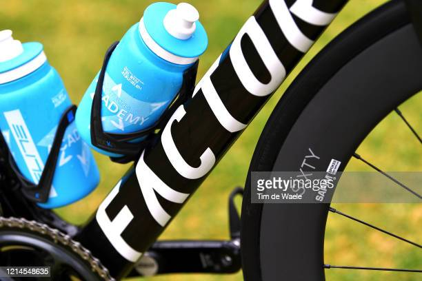 Down tube / Sixty Rim / Elite Bottle / Andre Greipel of Germany and Team Israel Start-Up Nation / Factor Bike / Detail view / during the 22nd Santos...