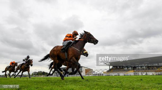 Down United Kingdom 24 July 2020 She's Our Queen with Ben Coen up on their way to winning the Irish Stallion Farms EBF Median Auction Fillies Maiden...
