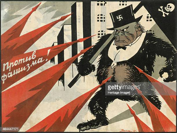 Down with fascism 1929 Found in the collection of the Russian State Library Moscow