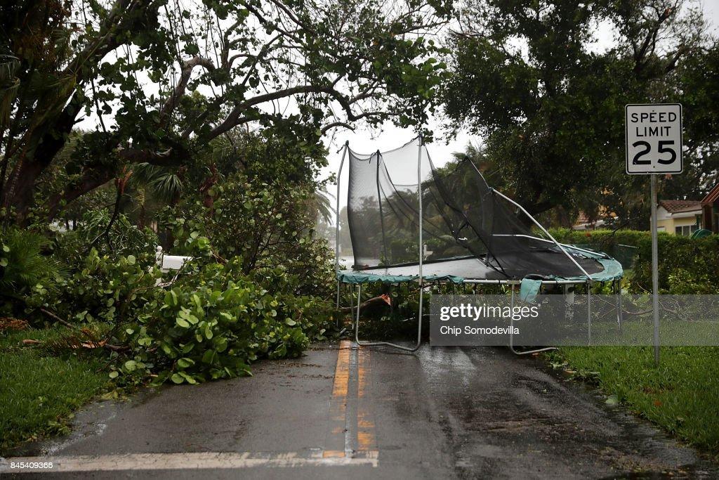 Powerful Hurricane Irma Slams Into Florida : ニュース写真