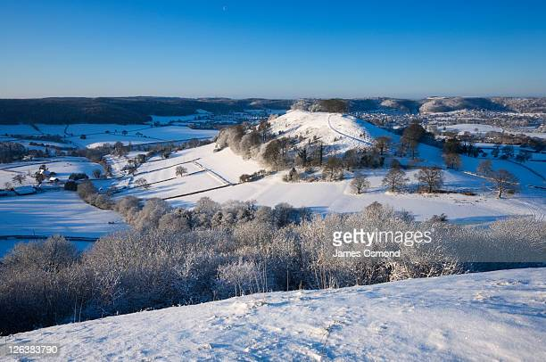 downham hill from uley bury. the cotswolds. gloucestershire. england. uk. - newpremiumuk stock pictures, royalty-free photos & images