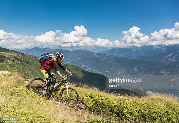 Downhill from Col d'Anzana, Italy