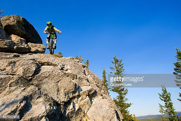 Downhill Mountain Bike Rider