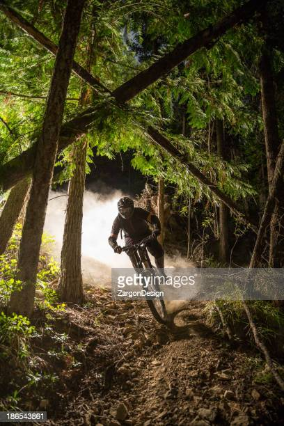 downhill mountain biking - kelowna stock pictures, royalty-free photos & images