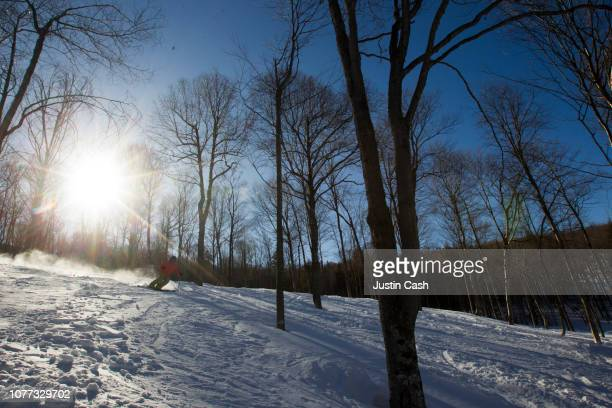 Downhill Skiing in Maine, USA