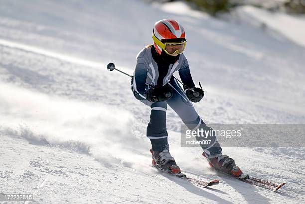 downhill skiing - ski racing stock pictures, royalty-free photos & images