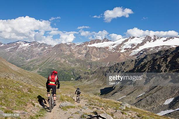downhill to martell valley, south tyrol - martell valley italy stock photos and pictures