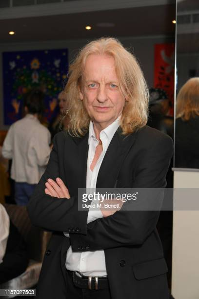 Downing attends a private view of artist Chloe Trujillo's exhibition 'Art In Motion' at the Karma Sanctum Soho hotel on June 19, 2019 in London,...