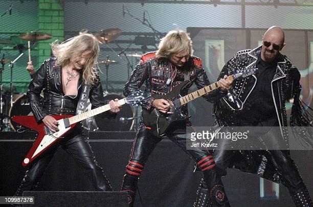 Downing, Glenn Tipton and Rob Halford of Judas Priest