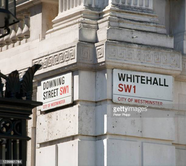 downing street and whitehall - whitehall london stock pictures, royalty-free photos & images