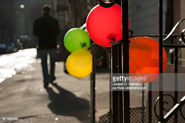 downing street balloons - joseph o. holmes stock pictures, royalty-free photos & images