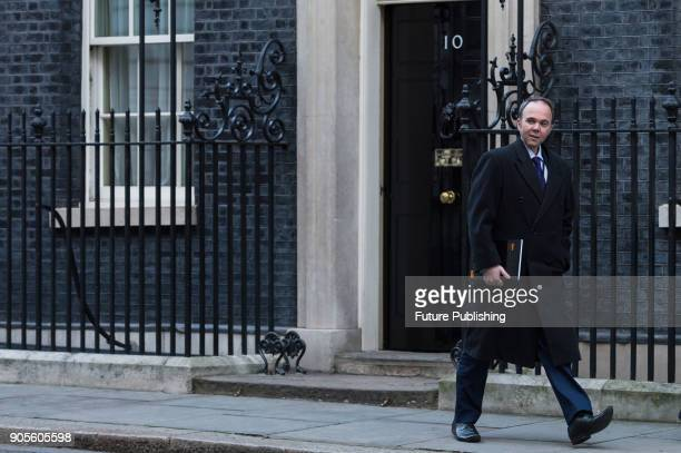Downing Street Chief of Staff Gavin Barwell leaves after a Cabinet meeting at 10 Downing Street in central London January 16 2018 in London England