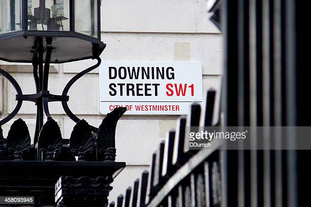 downing street sign - prime minister stock pictures, royalty-free photos & images