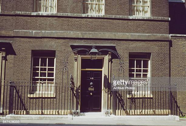 Downing Street, the official residence of the First Lord of the Treasury, London, England, circa 1965.