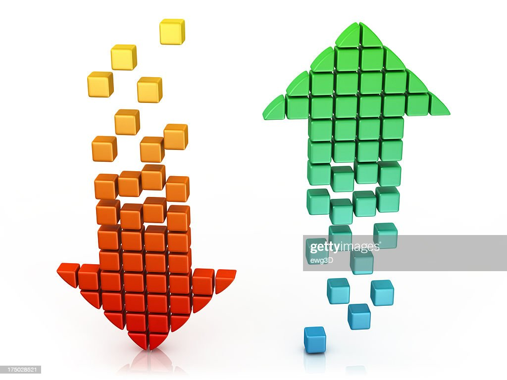 Download and Upload - Arrow Icons : Stock Photo