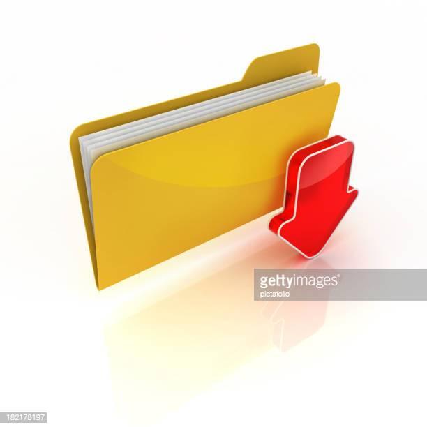 download or saving files into folder..