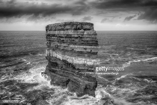 downpatrick head - eroded stock pictures, royalty-free photos & images