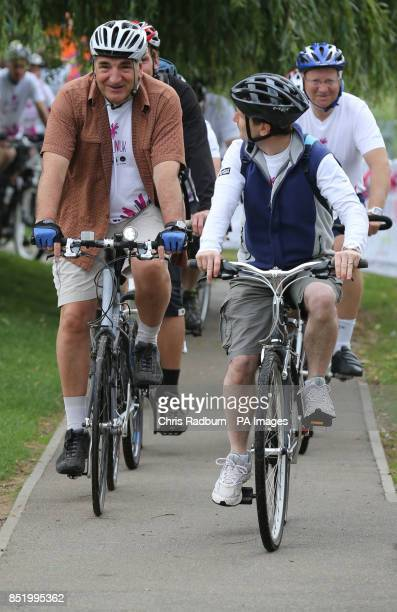 Downton Abbey actor Jim Carter takes part in the Pedal On UK cycle ride from St Neots in Cambridgeshire to Bedford as part of the Pedal On UK series...