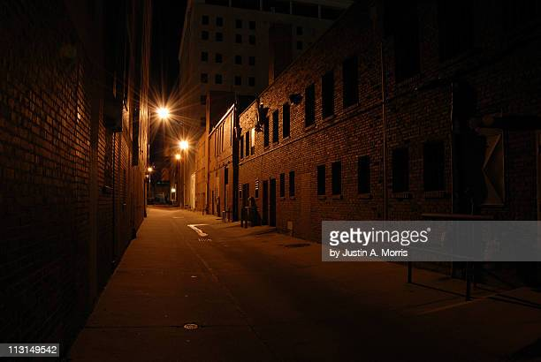 downtown alley - oklahoma city stock pictures, royalty-free photos & images