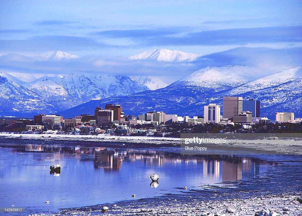 Downtown Anchorage, Alaska : Stock Photo