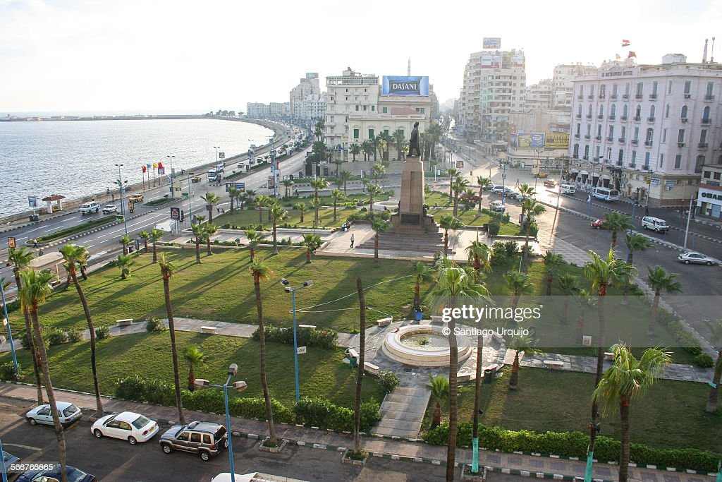 Downtown and corniche of Alexandria : Stock Photo