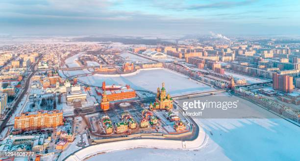 downtown area of yoshkar-ola - russia stock pictures, royalty-free photos & images