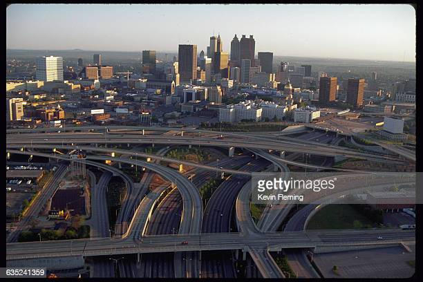 Downtown Atlanta and Interstate 75 and Interstate 85 Georgia USA