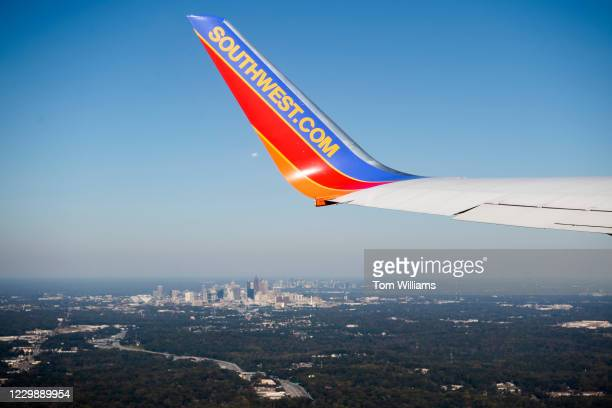 Downtown Atlanta, Ga., is seen from a Southwest Airlines flight out of HartsfieldJackson Atlanta International Airport on Wednesday, November 4, 2020.