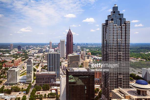 downtown atlanta, georgia, america - atlanta skyline stock pictures, royalty-free photos & images