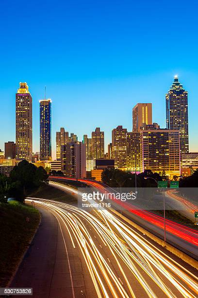 downtown atlanta, georgia - atlanta skyline stock pictures, royalty-free photos & images