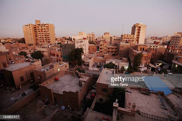 Downtown Baghdad is seen at dawn on December 4 2011 in Baghdad Iraq Iraq is transitioning nearly nine years after the 2003 US invasion and subsequent...