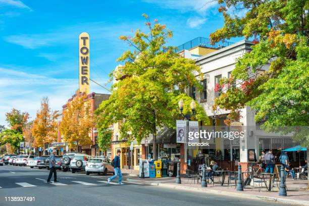 downtown bend oregon usa - oregon stock photos and pictures