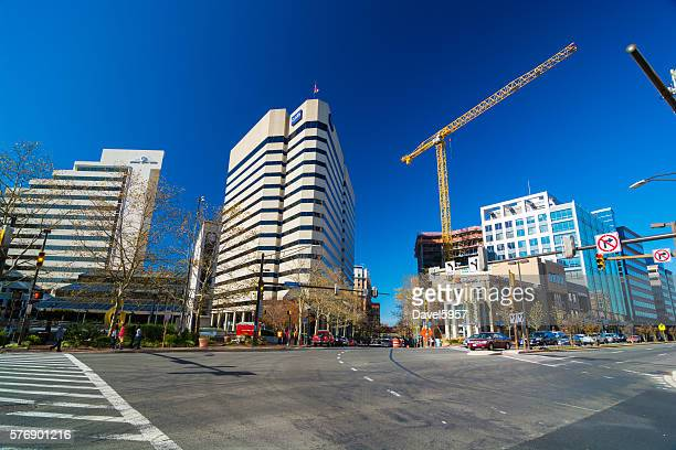 downtown bethesda scene - bethesda maryland stock photos and pictures