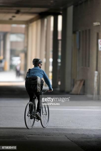 Messager de vélo du centre-ville