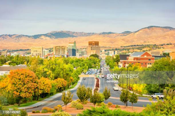 downtown boise idaho usa - idaho stock pictures, royalty-free photos & images
