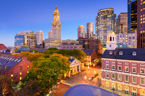 Downtown Boston Cityscape 618359418