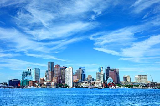 Downtown Boston Massachusetts Skyline 980100904
