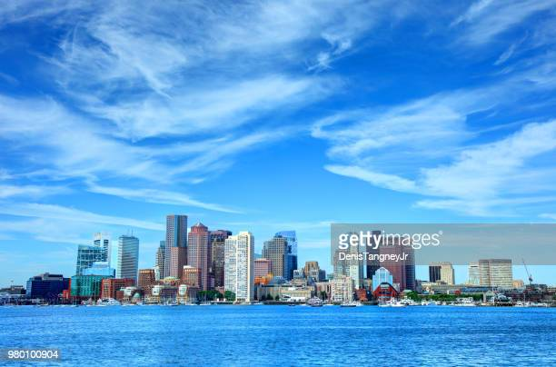 downtown boston massachusetts skyline - boston stock pictures, royalty-free photos & images
