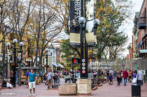 Downtown Boulder, Colorado and the Pearl Street Mall
