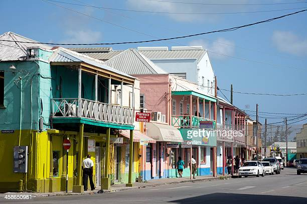 downtown bridgetown, barbados - bridgetown barbados stock photos and pictures