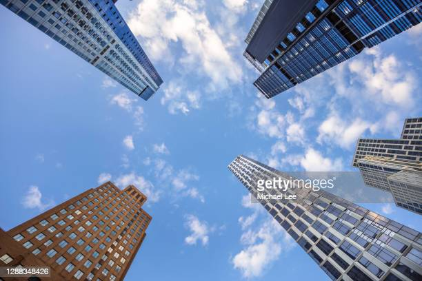 downtown brooklyn look up view - new york - brooklyn new york stock pictures, royalty-free photos & images