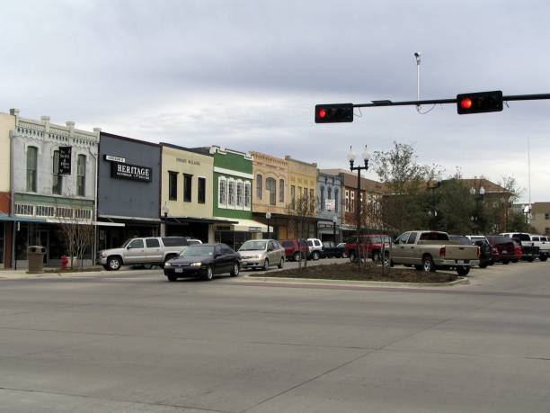 Downtown Bryan Texas Is A Mix Of S Restaurants And Offices Boarded