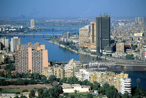 Downtown Cairo and the Nile River, Egypt