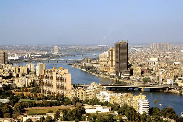 Downtown Cairo And The Nile River Wall Art