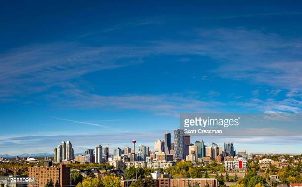 downtown calgary 2019 - calgary stock pictures, royalty-free photos & images