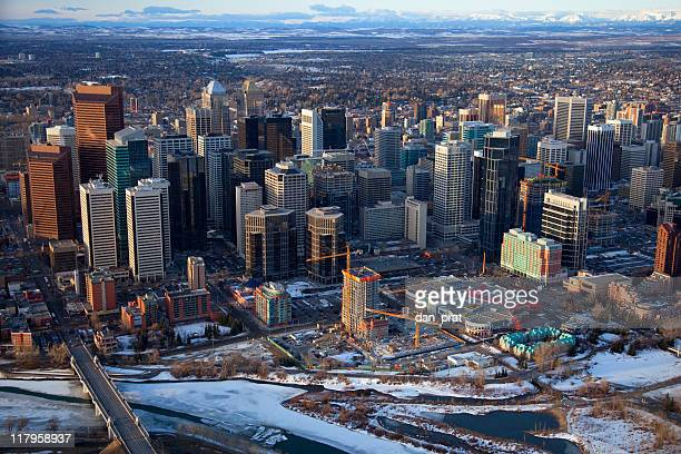 Downtown Calgary Aerial View