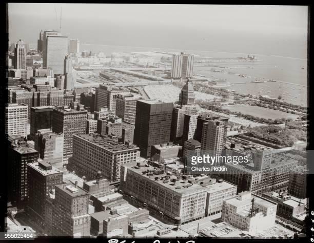 Downtown chicago and lake michigan Chicago Illinois USA
