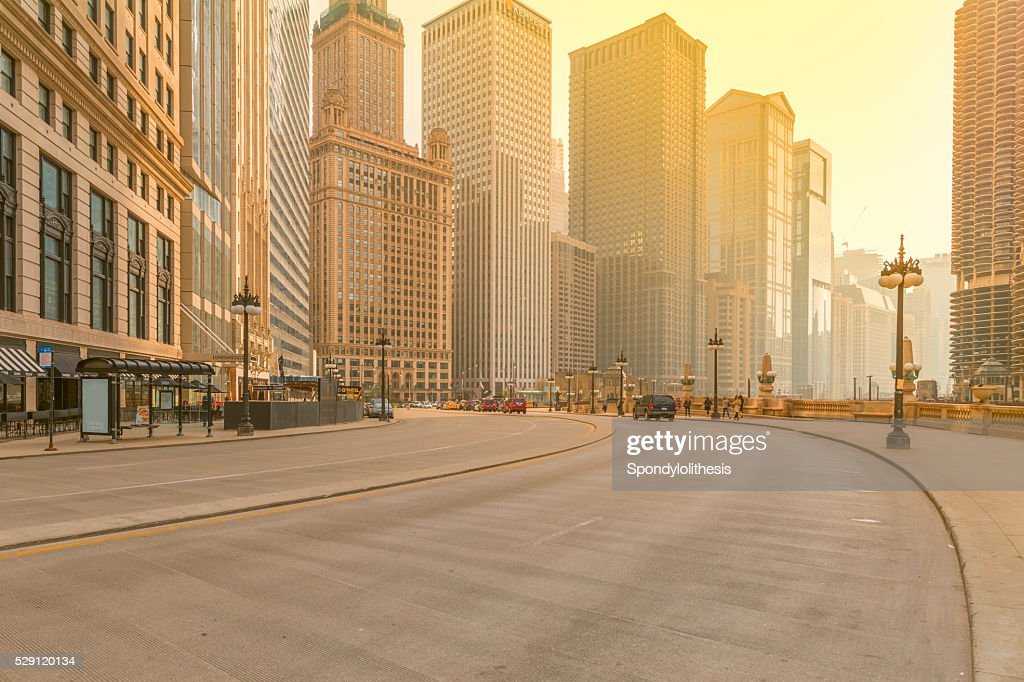 Downtown Chicago at Sunset : Stock Photo