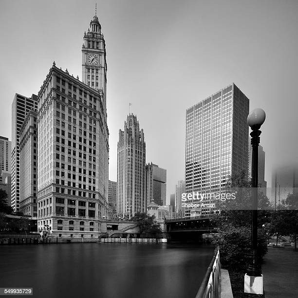 Downtown Chicago in B&W