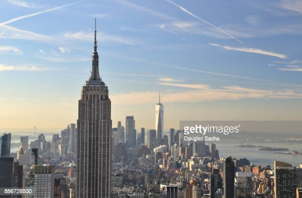downtown city skyline, new york city, new york, usa - hudson river stock pictures, royalty-free photos & images